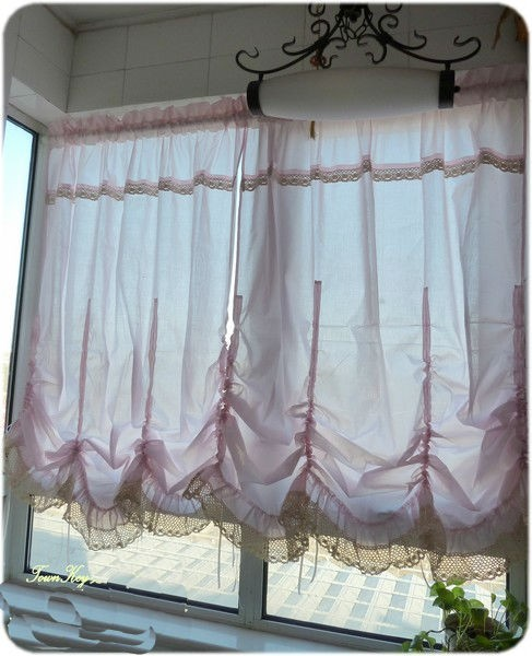 how to make pull up curtains