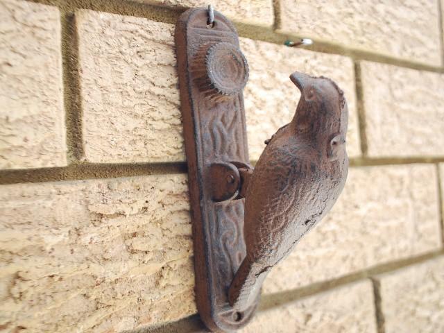 Cast Iron Antique Style Woodpecker Door Knocker Rustic Ebay
