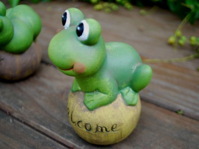 Set Of 4 Cartoon Animal Pottery Clay Tortorise Frog Snail