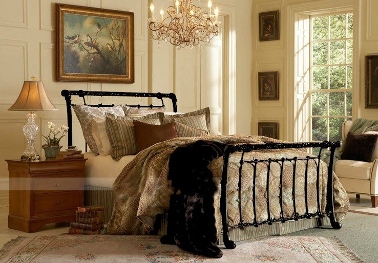 Iron Queen Sleigh Bed Frame Pictures to Pin on Pinterest - PinsDaddy