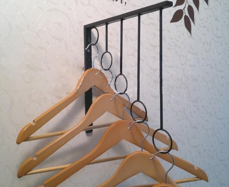 Iron Wall Mounted Clothes Rack Hanger Display Fashion Shop
