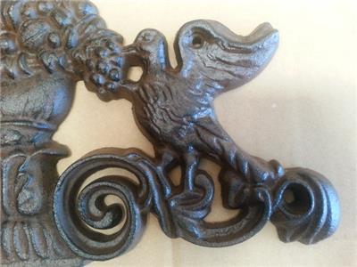 Rustic Cast Iron Doves Wall Plaque Out Door Decor 37cm Ebay