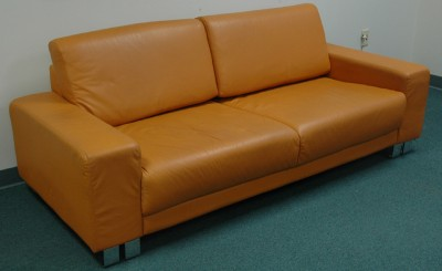 great burnt orange high grade mid century leather sofa ebay