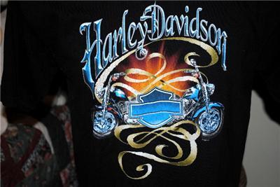 davidson motorcycle t shirt memphis tn sz l  in th u s