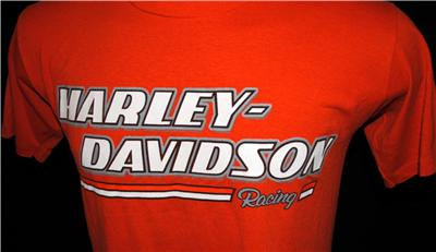 DAVIDSON MOTORCYCLE T SHIRT RACING HOUSTON TEXAS ASTRODOME Sz L 42 44