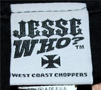 WEST COAST CHOPPERS LONG SLEEVE T SHIRT LONG BEACH, CA BLACK RED JESSE