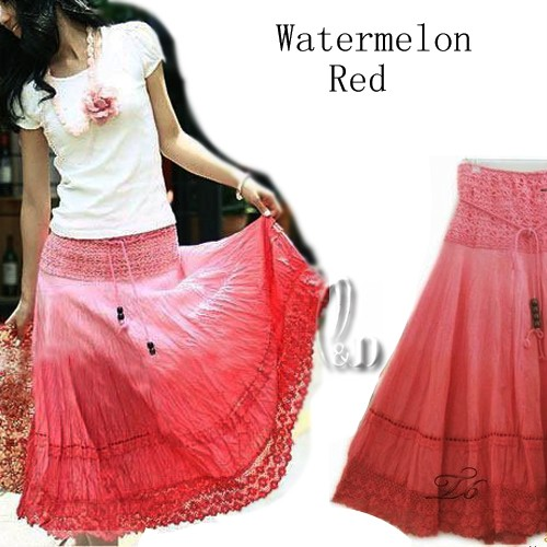 BOHO-Cotton-Lace-2-in-1-Convertible-Tube-Top-Beach-Dress-Maxi-Skirt-dr009