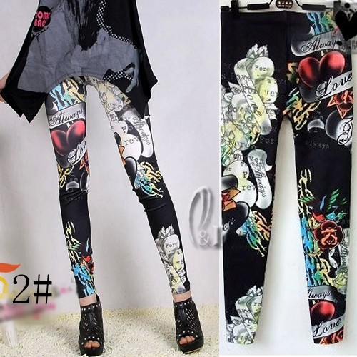 AU SELLER Sexy Artsy Print Leggings Slim Dress pants SZ XS-L/AU6-12 p067 | eBay
