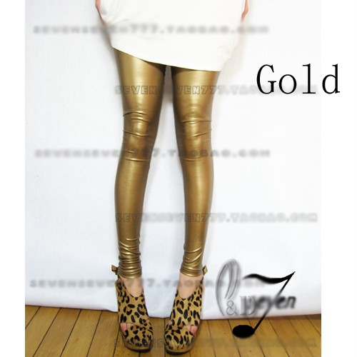 High-Waist-Leather-Look-Stretch-Leggings-Tights-pants-SZ-XS-L-AU6-14-P121