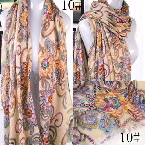 AU SELLER BOHO Style Large Soft Wrap SCARF/SHAWL Beach Sarong Cover  sc023