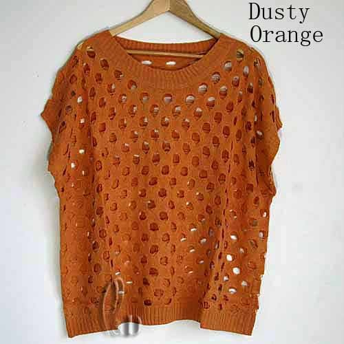 Au Seller Hollow Crochet Knit Loose Top Jumper Pullover Sweater Coat