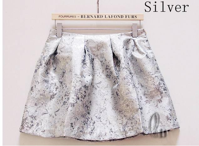 Metallic-Shiny-Formal-Office-Flared-Pleated-Tulip-Mini-Skirt-Dress-dr153