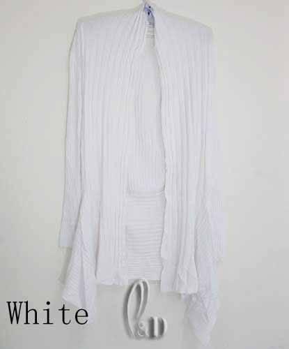 Uneven Hem Soft Waterfall Open Cardigan Long Sweater Coat Top T106