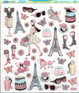 Paris fashion girl eiffel tower diva scrapbook stickers ebay - Magasin de scrapbooking paris ...