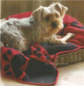 Free Knitting Pattern Dog Blanket : KNITTING DOG PAW PATTERN 1000 Free Patterns
