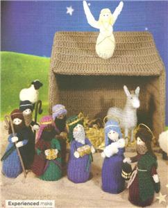 Knitting Pattern Nativity Stable : Alan Dart Toy Knit Pattern * Xmas NATIVITY SET & STABLE eBay
