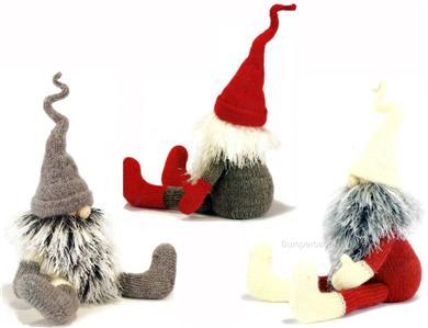 Free Pattern For Knitted Leg Warmers : Toy Knitting Pattern Alan Dart SWEDISH GNOMES + MONKEY eBay