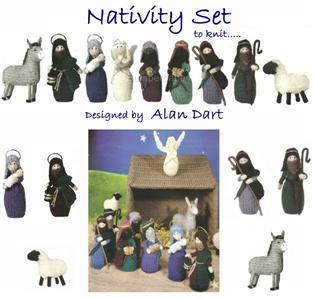 Alan Dart Toy Knit Pattern * Xmas NATIVITY SET & STABLE eBay