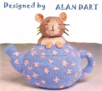 Alan Dart Toy Knitting Pattern * DORMOUSE TEAPOT * Alice in Wonderland