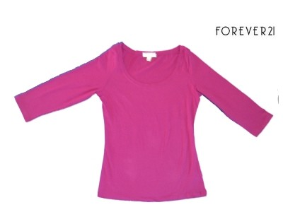 Forever-21-XXI-Women-039-s-3-4-Sleeve-T-Shirt-Small-Large