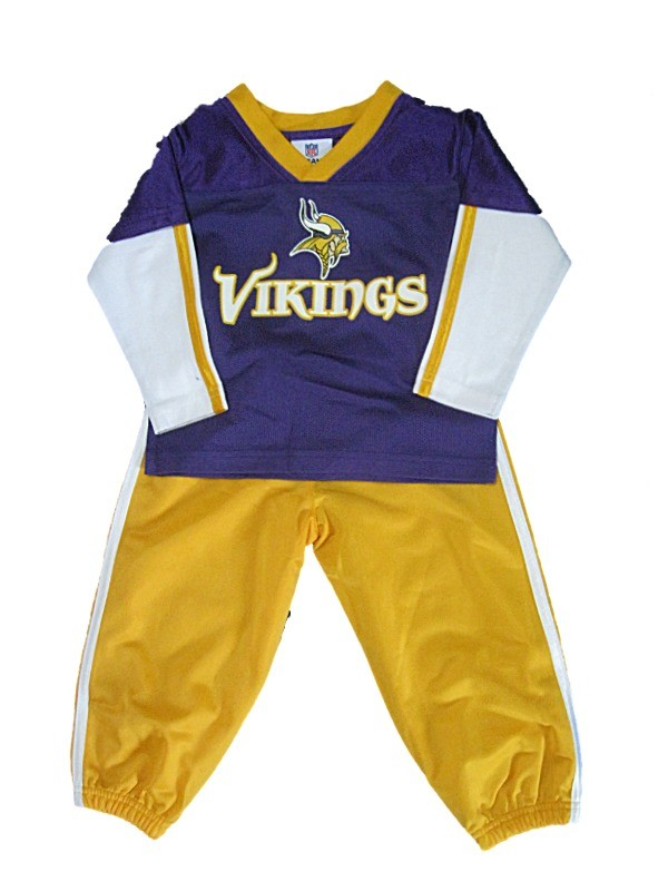 New NFL Toddler Minnesota Vikings Outfit Size 2T 4T Boys