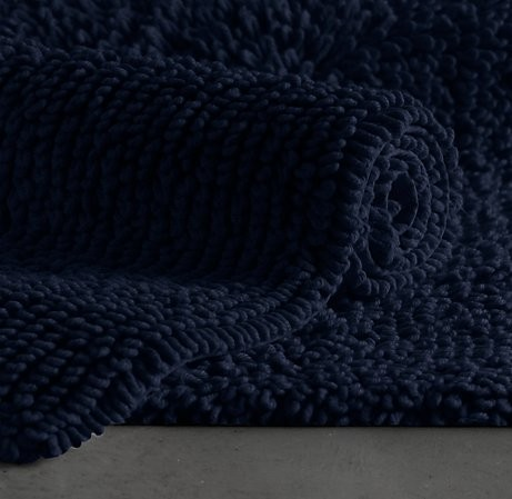 Restoration Hardware Plush Loop Midnight Med Bath Rug Ebay