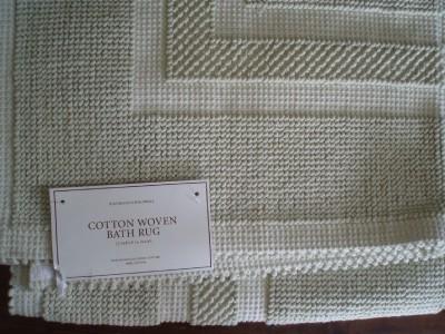 Restoration hardware cotton woven celery bath rug 30 x 50 for Restoration hardware bathroom rugs