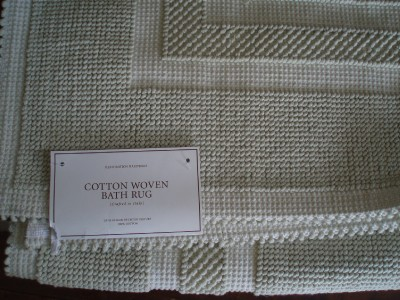 Restoration Hardware Cotton Woven Celadon Bath Rug 30 X 50 Ebay