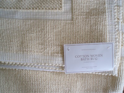Restoration hardware cotton woven butter bath rug 30 x 72 for Restoration hardware bathroom rugs