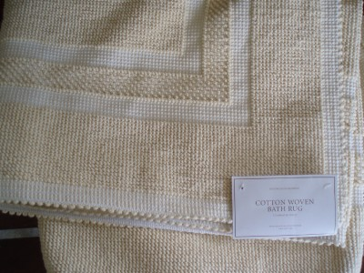 Restoration Hardware Cotton Woven Butter Bath Rug 30 X 72 Ebay