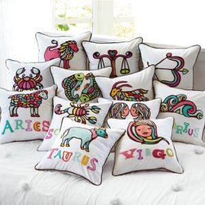 Pottery Barn Teen Astrology Organic pillow case 12x12