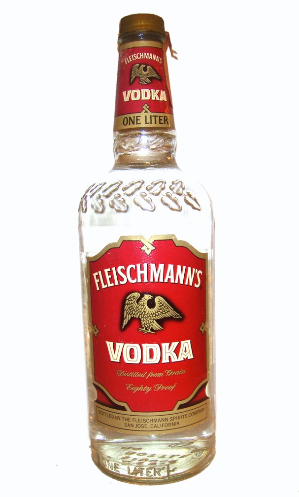 Fleischman's Vodka https://www.smalldemons.com/things/alcohol/Fleischmann%E2%80%99s_vodka
