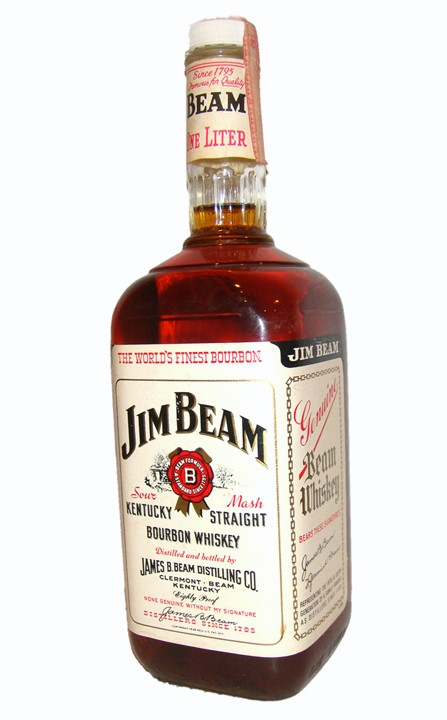 Jim Beam Bottles Price Guide http://www.ebay.com/itm/Jim-Beam-White-Label-Bourbon-Whiskey-Old-Bottle-RARE-/380403814582