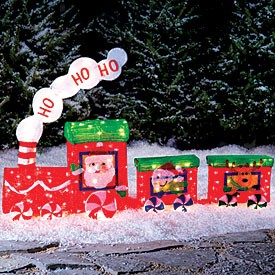 Outdoor lighted christmas train decoration memes for Outdoor christmas train decoration