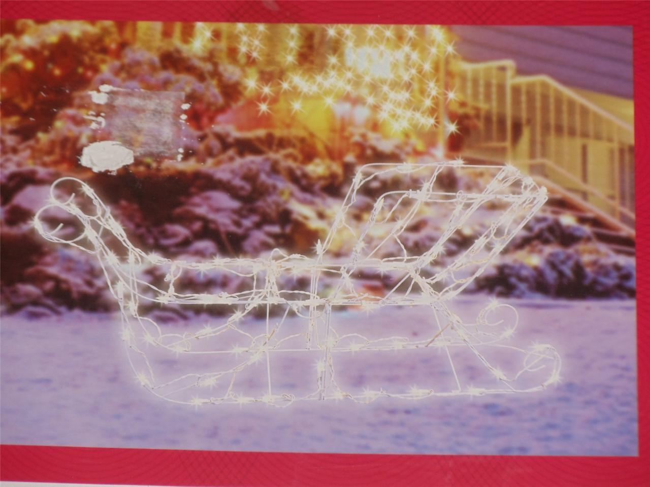 Http Ebay Com Itm Lighted Sculpture 42 Sleigh Sled Christmas Indoor Outdoor Decoration Lights New 291014645784