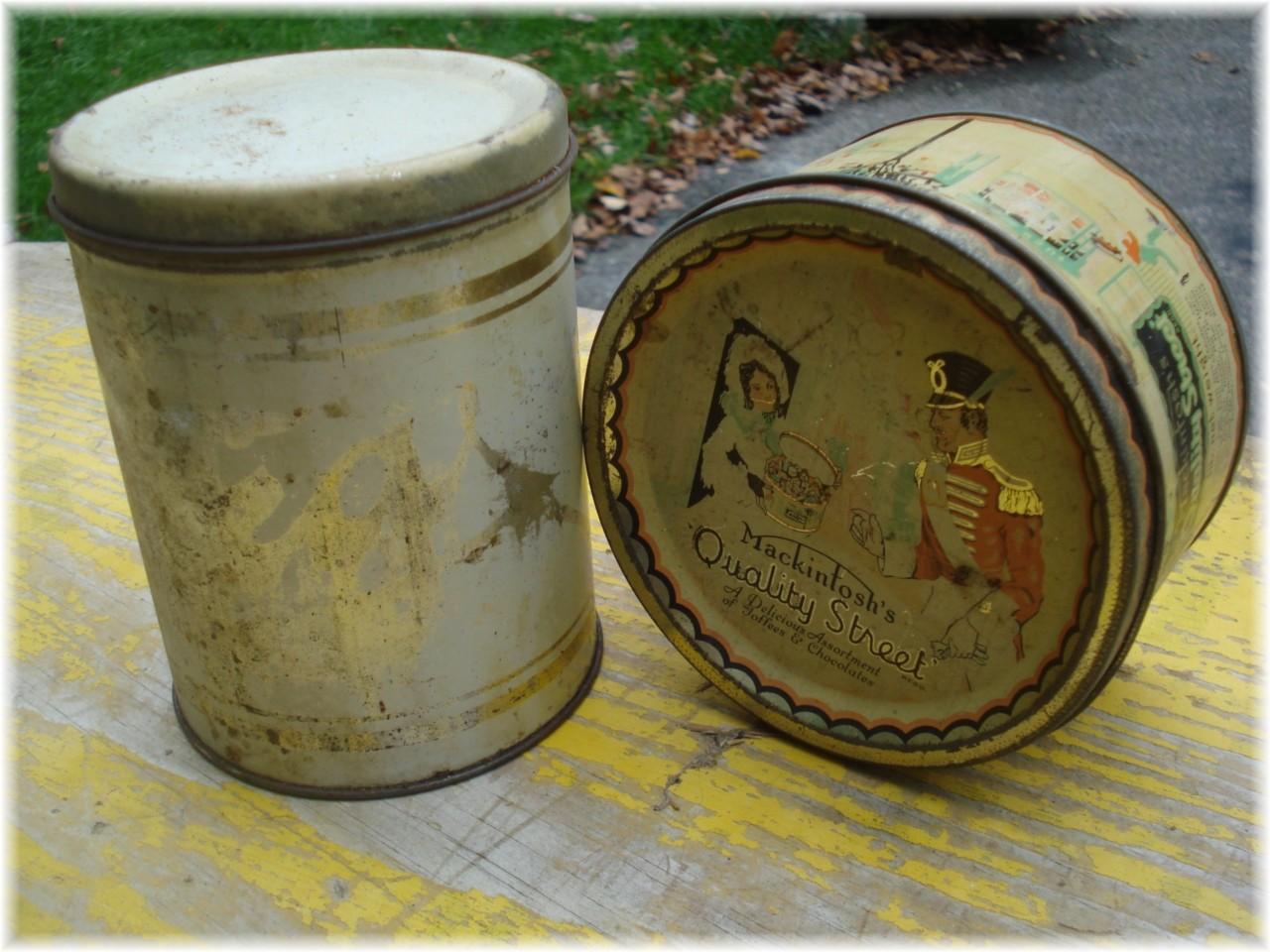 vintage tins mackintosh 39 s toffee antique tea tin can ebay
