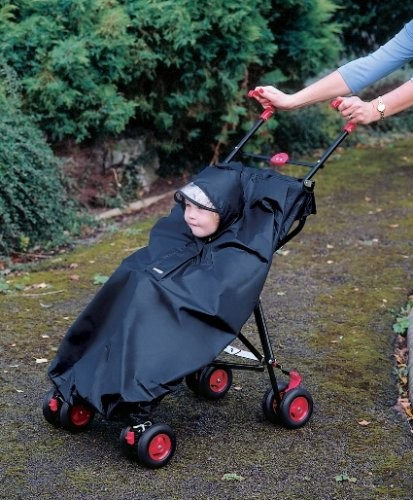 Baby-Child-toddler-Buggy-Stroller-Rain-Cape-Waterproof-Rain-Cover-Black-New