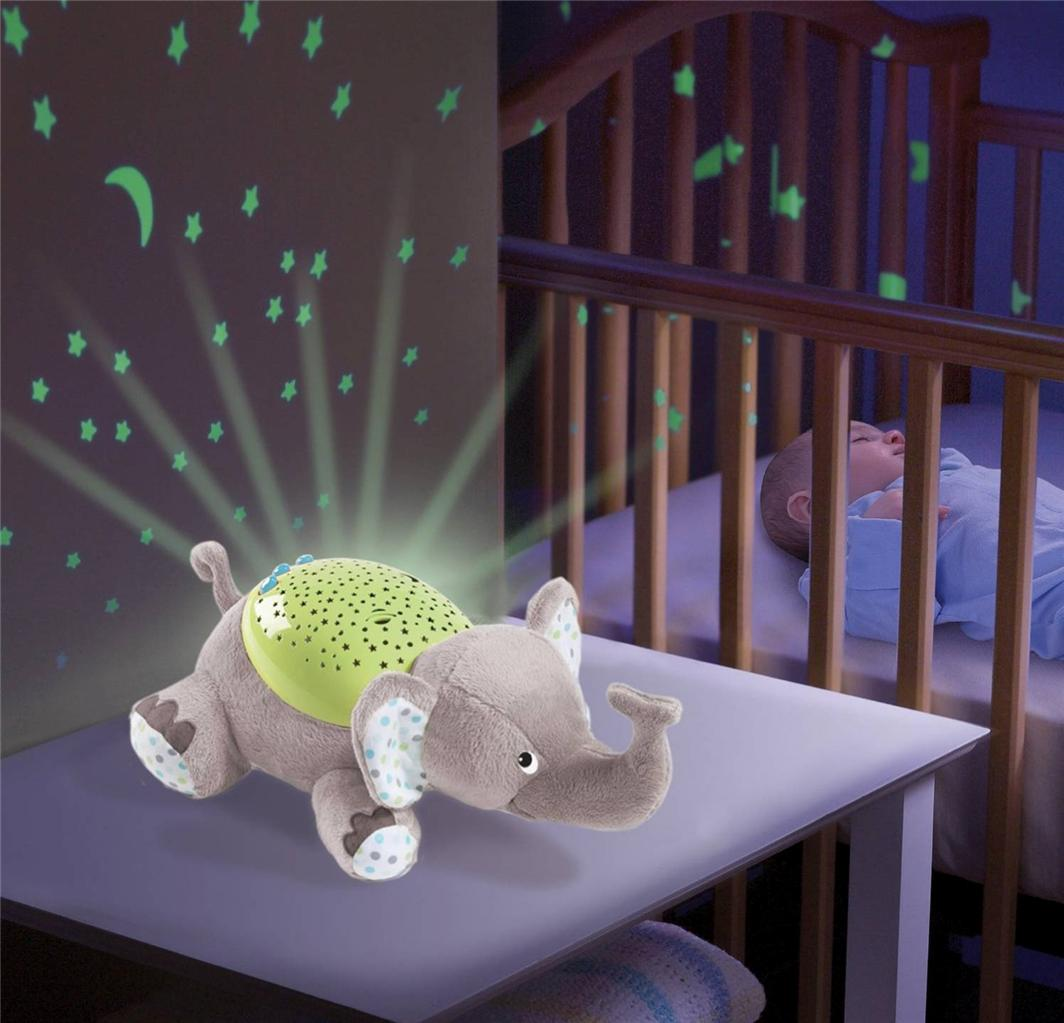 Baby Musical Cot Mobile Night Light Projector Nursery