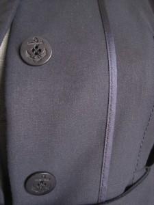 Stella McCartney Navy Blue Tailored Dress Coat 40