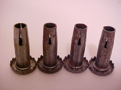 4 Antique Steel Caster Wheel Housings Salvaged Furniture Castors Rollers Casters Ebay