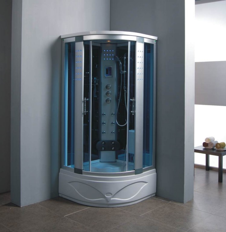 Thermostatic steam shower bath cubicle cabin 900x900 ebay - Luxury shower cubicles ...