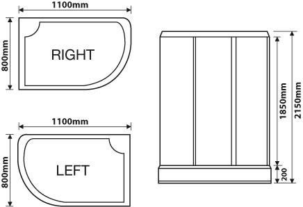 corner shower sizes standard. STEAM SHOWER ENCLOSURE CORNER QUADRANT CABIN CUBICLES VARIOUS SIZES 800 900  1 Corner Shower Sizes Standard home decor Xshare us