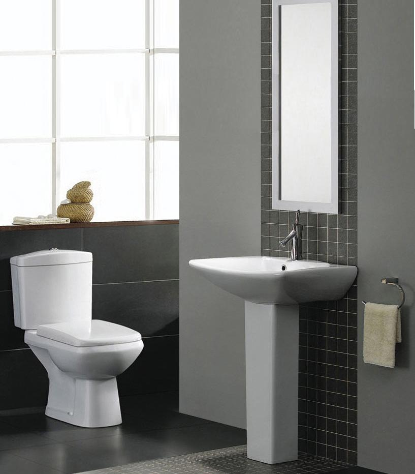 Elizabeth Modern Bathroom Suite White Bath Toilet Sink