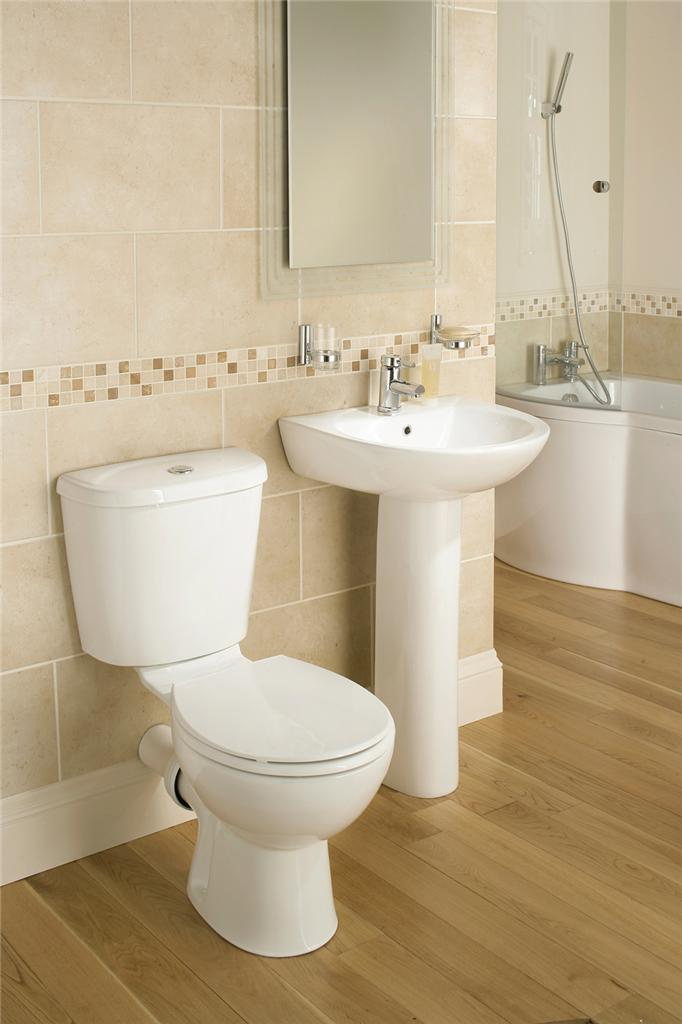 Galaxy modern bathroom suite white bath toilet sink basin for Three piece bathroom