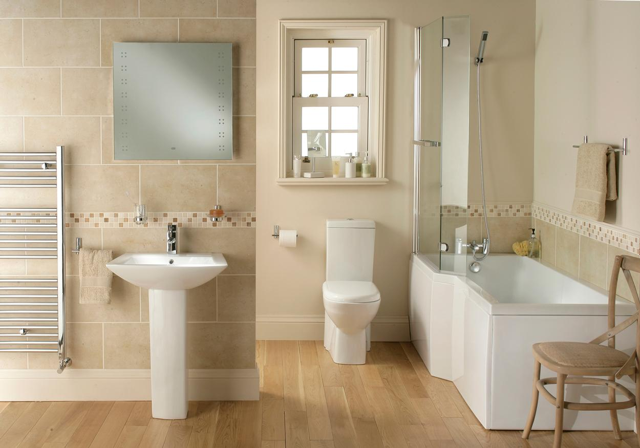 Awesome White And Cream Bathroom  Houzz