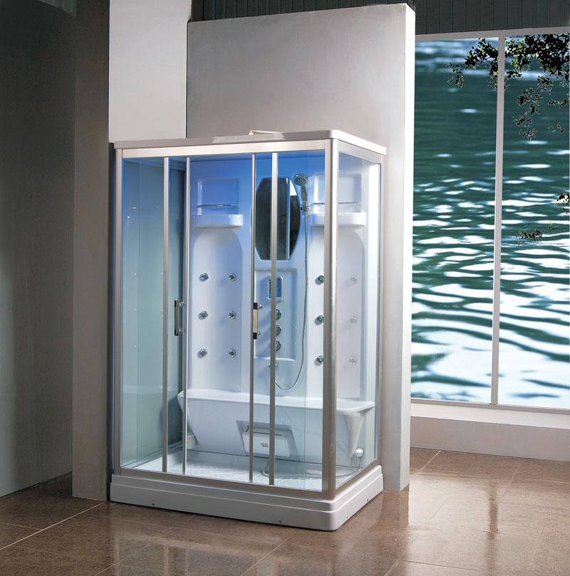 1400 X 900 Thermostatic Steam Shower Enclosure Cubicle