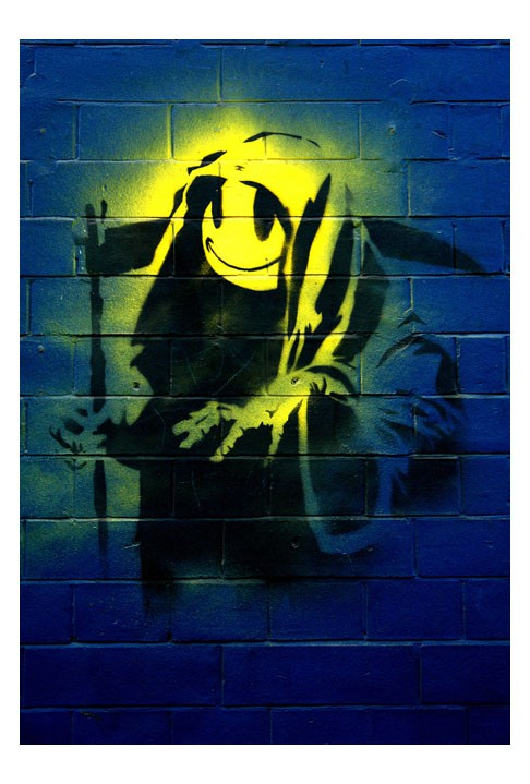 Banksy Smiley Grim Reaper