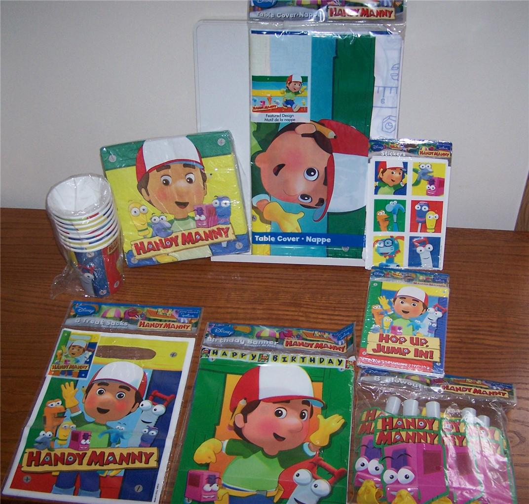 Handy manny birthday party supplies pick what u want for Handy manny decorations