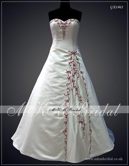 Beaded red burgundy white ivory silver black for Black and silver wedding dress
