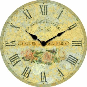 beautiful french country antiqued wood wall clock shabby